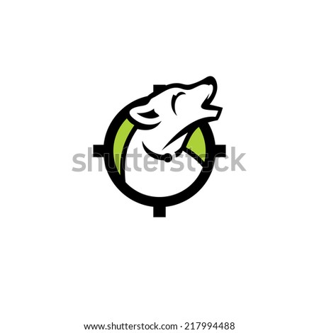 Hunting abstract sign Branding Identity Corporate vector logo design template Isolated on a white background - stock vector