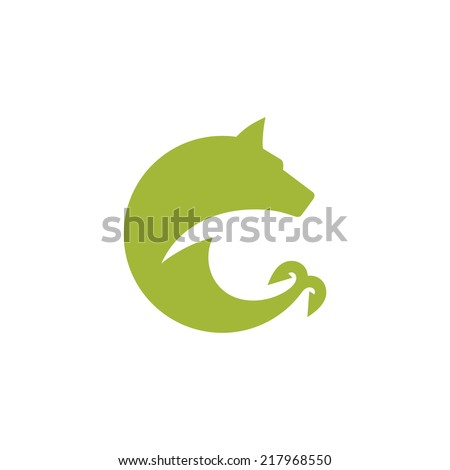 Hunting and fishing sign Branding Identity Corporate vector logo design template Isolated on a white background - stock vector