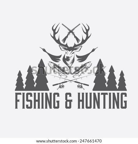 Hunting and fishing logos for Hunting and fishing logos
