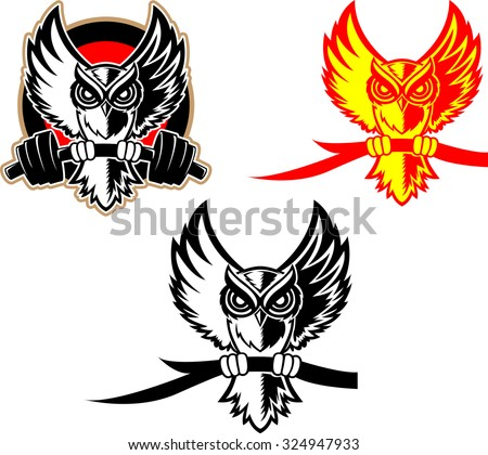 Fighting owl logo clipart library for Owl fish store