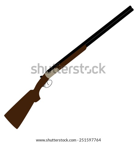 Hunting rifle vector isolated, rifle shooting, shooting sport  - stock vector