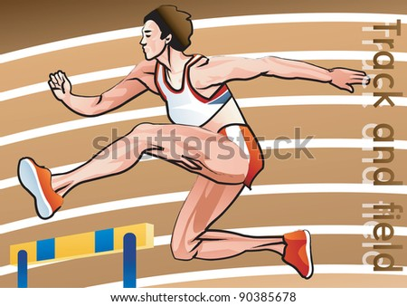 Hurdles - stock vector