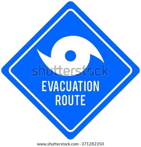 Hurricane Evacuation Route - stock vector