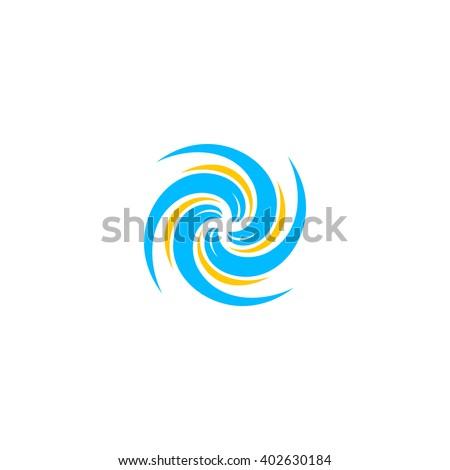 Hurricane logo. Typhoon logo.Tornado logo. Wind logo. Storm logo. Funnel logo. Black hole logo.Rotation logo.Yule logo.Twisted logo.Spiral logo.Motion logo. Cyclone logo. Weather logo. Propeller logo. - stock vector