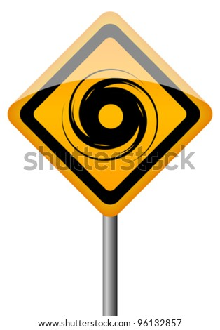 Hurricane vector sign, eps10 illustration - stock vector