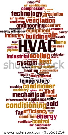 HVAC word cloud concept. Vector illustration