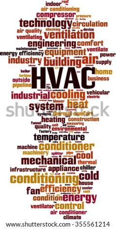 HVAC word cloud concept. Vector illustration - stock vector
