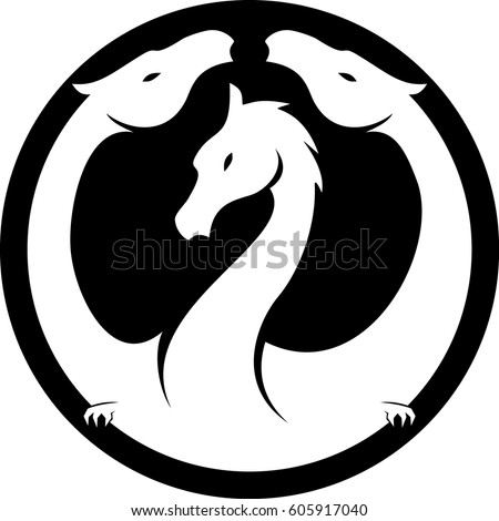 Hydra Logo Stock Vector 605917040 Shutterstock