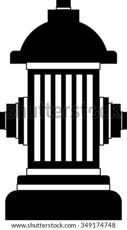 hydrant outline isolated illustration - stock vector