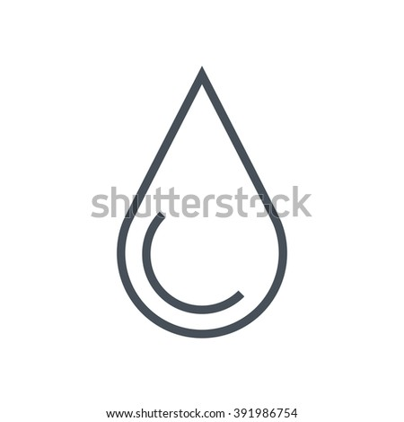 Hydro energy icon suitable for info graphics, websites and print media and  interfaces. Line vector icon. - stock vector