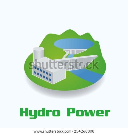 Hydro Power image illustration  - stock vector