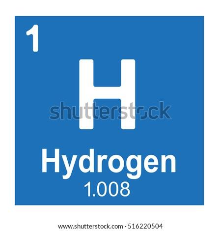 Hydrogen Element Vector Icon Periodic Table Stock Vector ...