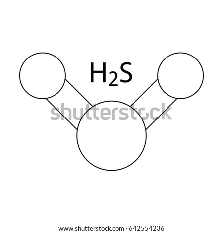 Hydrogen Sulfide H 2 S Molecule Color Icon Stock Vector Royalty