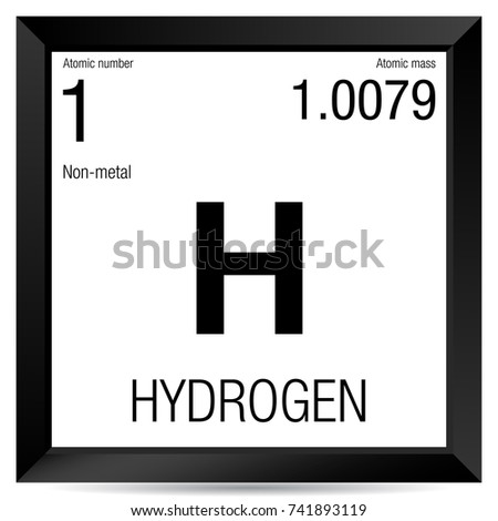 Hydrogen symbol element number 1 periodic stock vector 741893119 hydrogen symbol element number 1 of the periodic table of the elements chemistry urtaz Image collections