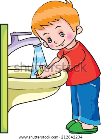 Boy Washing Hands Stock Images Royalty Free Images