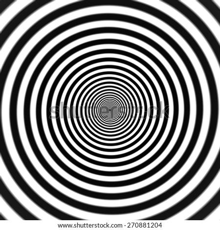 Hypnotic spiral vector illustration - stock vector
