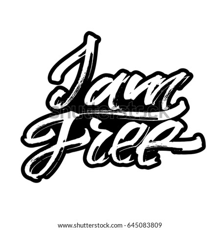 free modern calligraphy hand lettering silk stock vector royalty