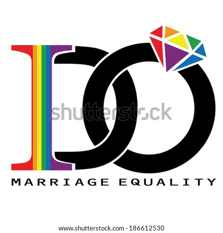 I DO - support marriage equality  - stock vector