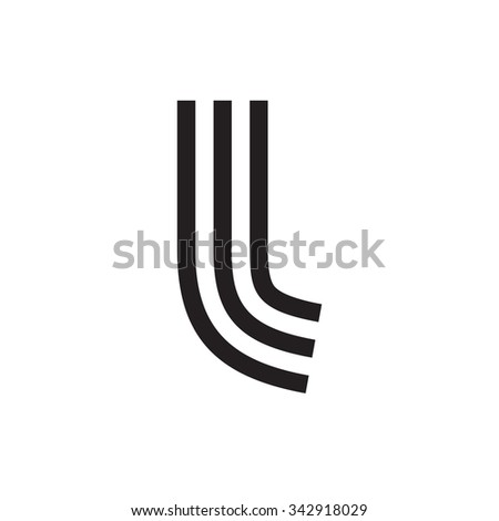 Letter Formed By Parallel Lines Vector Stock Vector 342918029