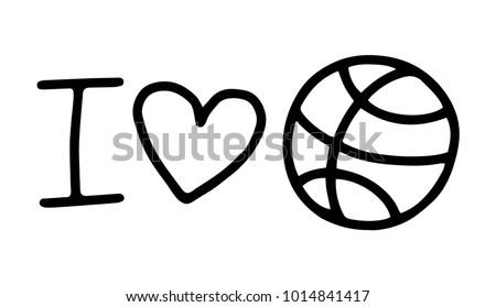 Love and basketball symbol