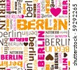 i love Berlin seamless background pattern in vector - stock vector