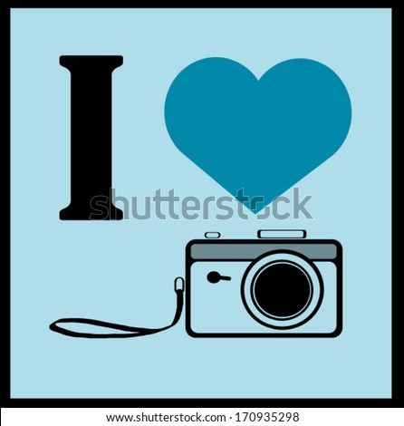 I love camera graphic design - stock vector