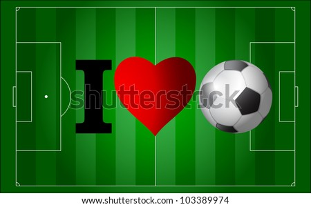 I love football - stock vector