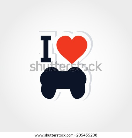 I love gaming vector illustration - stock vector