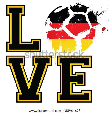 Love German Football Soccer Template Ideal Stock Vector 188961623