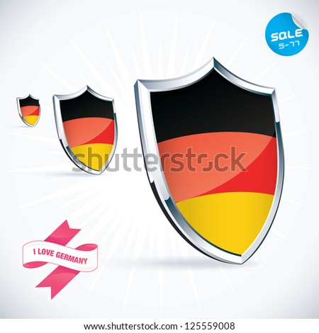 I Love Germany Flag Illustration, Sign, Symbol, Button, Badge, Icon, Logo for Family, Baby, Children, Teenager, People - stock vector