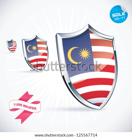 I Love Malaysia Flag Illustration, Sign, Symbol, Button, Badge, Icon, Logo for Family, Baby, Children, Teenager, People