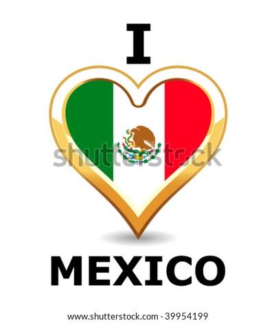 I love Mexico - stock vector