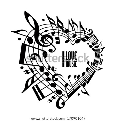 Music Note Heart Stock Images RoyaltyFree Images  Vectors