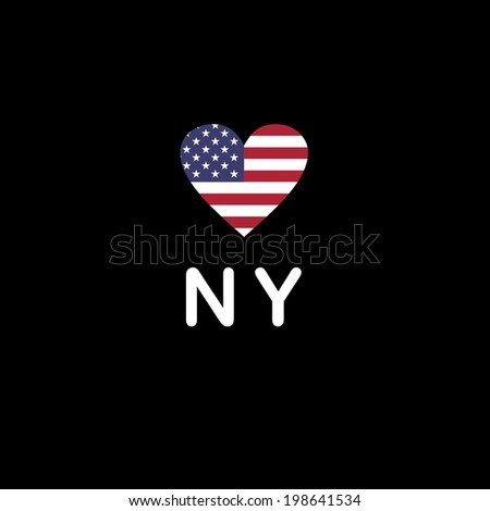 I Love New York - stock vector