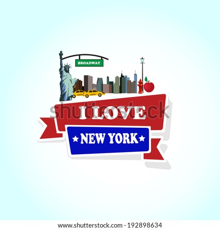 i love new york vector illustration - stock vector