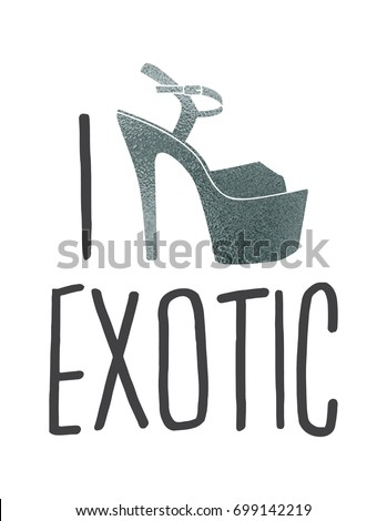 I love pole dance stripper shoes  Vector exotic girls dancing in glamour  platform heels pattern. Love Pole Dance Stripper Shoes Vector Stock Vector 699142219