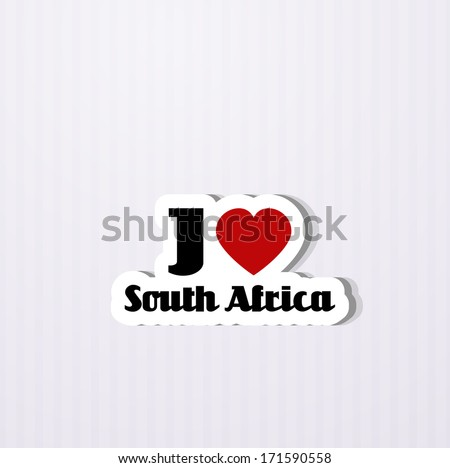 I love South Africa - stock vector