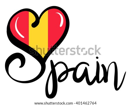 I Love Spain - Vector Graphic