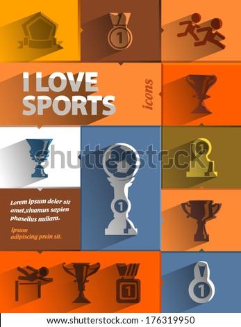 I love sports - stock vector