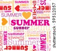 I love summer seamless background pattern in vector - stock vector