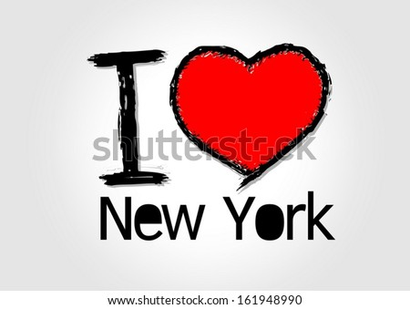 I Love USA  i love new york  and i love .... - stock vector