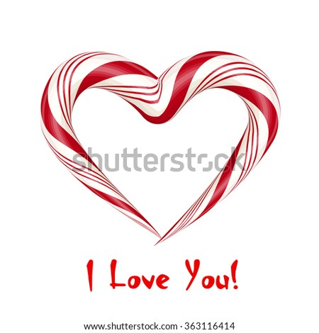 I Love you. Candy card. Vector illustration. - stock vector
