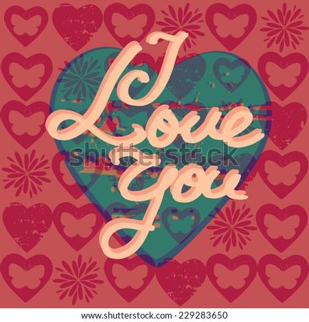 Seamlessly vector wallpaper valentine with hearts and superscription - Paris City Slogan Vector Art Stock Vector 152000372