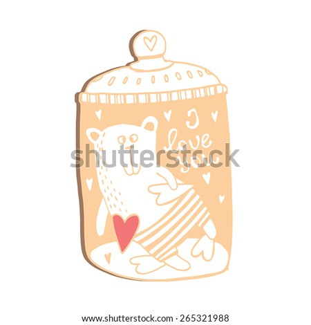 I love you. Cute card.Sweet card made of romantic signs - stock vector