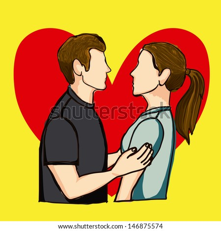 i  love you design over yellow background vector illustration