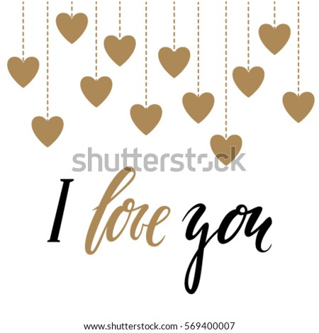 I love you gold calligraphy stock images royalty free I love you calligraphy