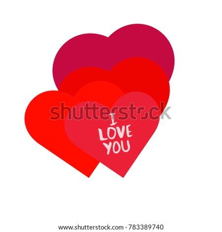 I love You. Hand drawn design elements. Vector illustration