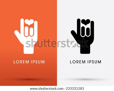 Love You Language Hand Sign Icon Stockvector 233331283 Shutterstock