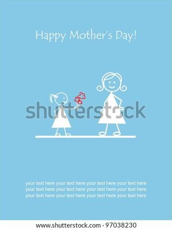 I love you mum - stock vector