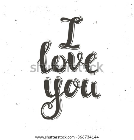 I Love You. Perfect for valentines day, birthday, save the date invitation. - stock vector